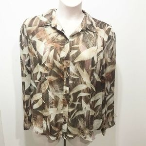 Coldwater Creek Size XL Blouse Classic Long Sleeve